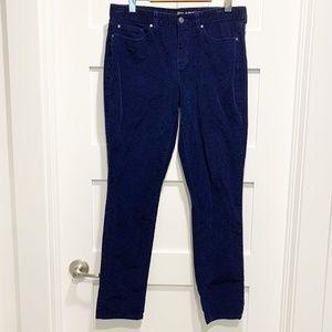 Gap Always Skinny Navy Blue Corduroy Ankle Pants